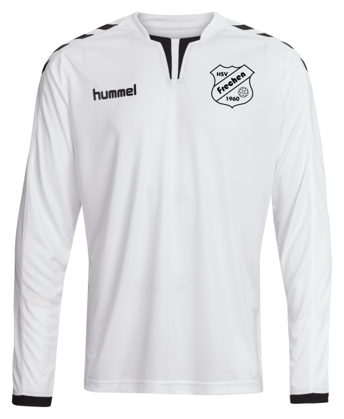 Core LS Poly Jersey weiß