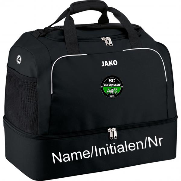 Sporttasche Classico mit Bodenfach schwarz